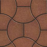 Brown Brick Pavers. Seamless Texture. Royalty Free Stock Photography