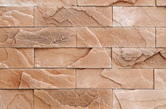 Brown brick stone wall texture Stock Image