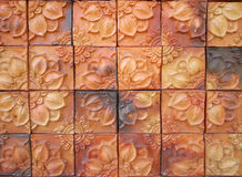 Brown brick tile background Royalty Free Stock Photography