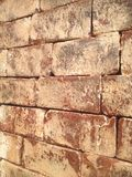 Brown brick. On the wall Stock Photo