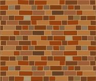 Brown brick wall abstract background. Vector illustration. Brown brick wall abstract background. Vector illustration Stock Image