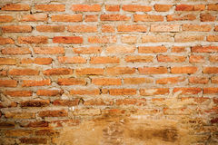 Brown brick wall. Antique brown brick wall texture Stock Images