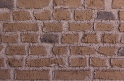 Brown brick wall. For background Royalty Free Stock Image