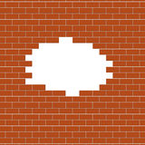 Brown brick wall background Royalty Free Stock Image