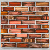 Brown brick wall and brickwork. royalty free illustration