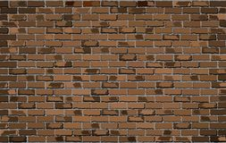 Brown brick wall. Illustration, nShades of  vector, nSeamless realistic Light And Dark brown colour brick wall, nAbstract grunge vector illustration Royalty Free Stock Images