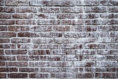 Brown brick wall. Stock Images