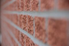 Brown Brick Wall Close Up Royalty Free Stock Photos