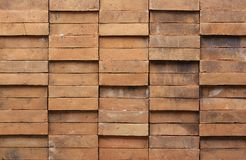 Brown Brick Wall. Close up photo of a brown brick wall Royalty Free Stock Photography