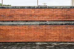 Brown Brick wall. At the garden Stock Photography