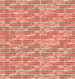 Brown brick wall, grunge texture background Stock Photography