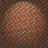 Brown brick wall and light vector background Royalty Free Stock Photos