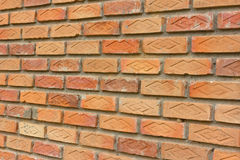 Brown Brick Wall. Royalty Free Stock Photography