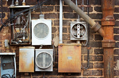 Electrical Meter Boxes Royalty Free Stock Images