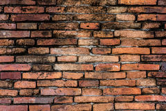 Brown Brick Wall. Brown Old Brick Wall temple Stock Images