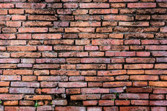 Brown Brick Wall. Brown Old Brick Wall temple Stock Photography