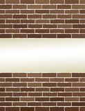 Brown brick wall with place for text Royalty Free Stock Image