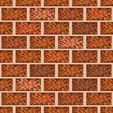 Brown brick wall seamless pattern vector background Stock Image