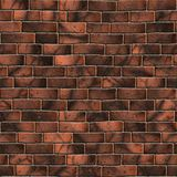 Brown Brick Wall. Seamless Tileable Texture. Royalty Free Stock Images