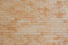 Brown Brick wall. With sharp edge brick Stock Photos