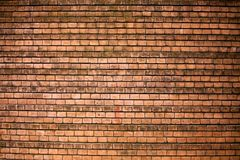 Brown brick wall, smooth masonry, texture, background Stock Images