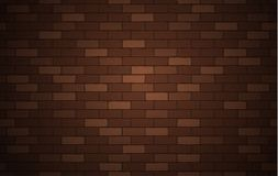 Brown brick wall texture or background with copy space for display of content design for advertisement product. Vector. Illustration royalty free illustration