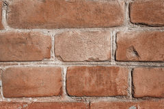 Brown brick wall texture. Old cracked Brown brick wall texture cement Royalty Free Stock Image