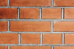 Brown brick wall texture. Old cracked Brown brick wall texture cement Stock Photo