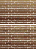 Brown brick wall. Two background with old brown brick wall Stock Illustration