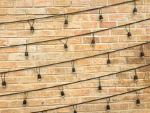 Brown brick wall Stock Photography