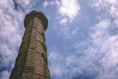 Brown Brick Watchtower Stock Photography