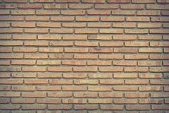 Brown Bricked Wall Stock Photography