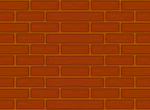 Brown bricks seamless pattern. Brown red brick wall seamless pattern Stock Images