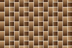 Brown bricks - vector pattern. Brick wall - brown background Stock Photo