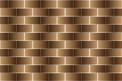 Brown bricks - vector pattern. Brick wall - brown background Stock Photos