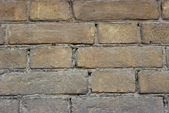 Brown brickwork made in the late 19th century stock photo