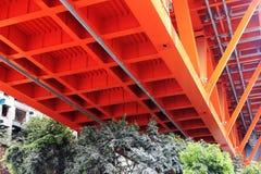 Brown bridge Stock Images
