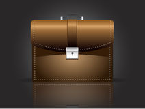 Brown Brief case, vector Stock Images