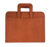 Brown briefcase. With hand holder Stock Image