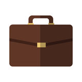 Brown briefcase icon Stock Photography