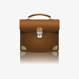 Brown briefcase illustration. Brown briefcase on a white background Royalty Free Stock Photo