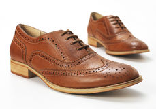 Brown Brogue Stock Photo