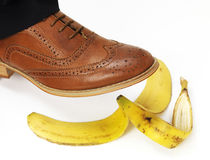 Brown Brogue Royalty Free Stock Photography