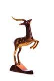 Brown bronze statue of a deer Stock Photos