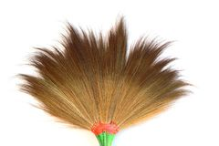 The brown broom from nature grass on white background isolated Stock Photography