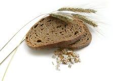 Brown-Brot, Roggenohren (Spitzen) und Mais Lizenzfreies Stockbild