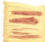 Brown Brush Strokes Royalty Free Stock Image