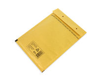 Brown bubble envelope Stock Photos