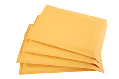 Brown Bubble Mailers Stock Photos