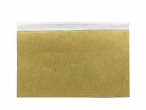 Brown-Buch auf weißem Hintergrund Stockfotografie